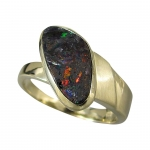 Schmuck-Michel Damen Ring Gold 585 Boulderopal Gr. 57 (R7)